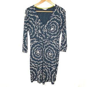 Boden v-neck 3/4 sleeve dress Size 8